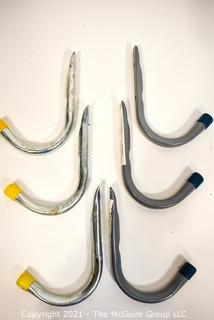 (6) Large Wall Mounted Garage Hooks