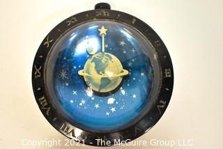 Vintage Art Deco Westclox Celestial Desk Paper Weight Clock