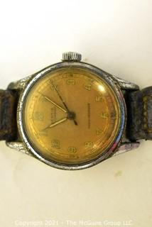 Swiss Made Rensie Men's Wristwatch with Leather Band