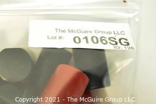(36) Vintage Black & Red Bakelite Drawer Pulls or Knobs. Various Sizes.