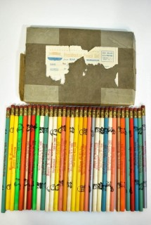 Vintage 1960's Presidential Pencil Set Complete in Box.