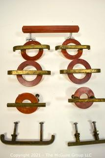 Group of Vintage Art Deco Style Drawer Pulls or Knobs with Bakelite Surrounds