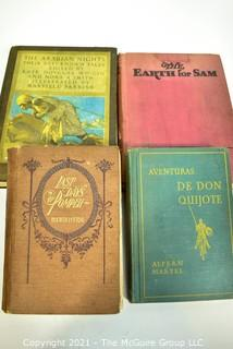 """Book Titles: """"The Earth For Sam"""", """"Last Days of Pompei"""", """"The Arabian Knights"""" and """"Don Quijote"""""""