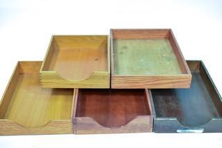 Five (5) Vintage Wood Desk In Boxes.