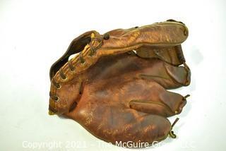 Vintage Leather Baseball Glove, circa 1930's