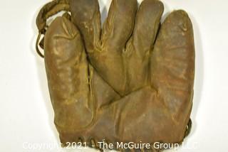 Vintage Leather Baseball Glove, circa 1920's