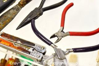 Assorted Hand Tools and NIB Paint Brushes