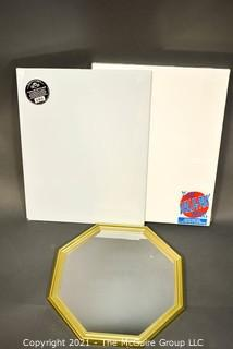New Artists Canvases and Hexagonal Wall Mirror
