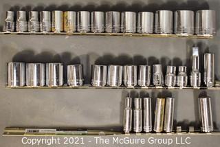 """Assortment of Rachet Sockets; 3/8 & 1/2"""""""