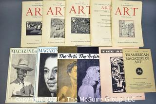 Group of Vintage Art Magazines and Catalogs.