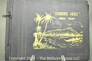 Vintage Post WWII Military Family Photo Album - Diamond Head and Honolulu Hawaii.  Includes photos of Joint Base Pearl Harbor-Hickam, Computer and Communication Rooms Pearl Harbor School, and surrounding scenery and landmarks.