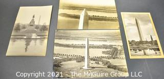 Four (4) Vintage Black & White Photographs of the Washington Monument, DC
