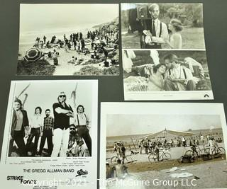 Group of Black & White Entertainment Promotional Photos or Stills. Includes Pretty Baby with Brooke Shields and Strike Force with the Allman Brothers.