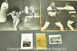 Vintage B & W Sports Photos including boxing and baseball.