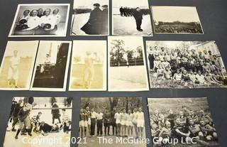 Twelve (12) Vintage Black & White Sport Photographs.  Various Dates and Photographers.
