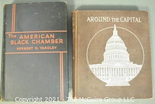 """Books: """"The American Black Chamber"""" by Yardley and """"Around the Capitol With Uncle Hank"""""""