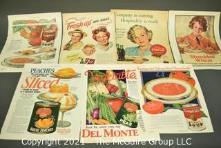 Collection of Vintage Color Loose Page Magazine Advertisements - 1920's Food & Beverage – Ephemera