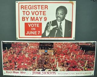 1988 Presidential Campaign Posters of Jesse Jackson