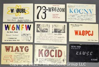 Collection of QSL Cards; circa late 1950's