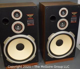 "Vintage Pair of Fisher ST-832 Stereo Speakers.  Each Measure 13"" x 18"" x 32""."