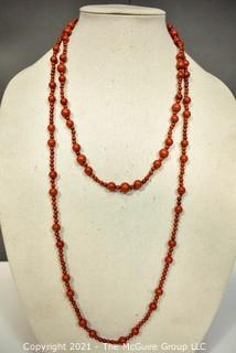 Two (2) Strands of Red Jasper Beads.