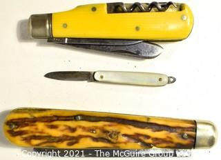 Collection of (3) Pocket Knives