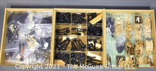 Three Drawer Case of Luthier Parts.  Plenty of photos to peruse.