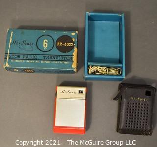 Vintage Hi-Sonic Six FR-6022 Transistor Radio with Original Box.