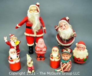 A Group of Vintage Santas. Ho Ho Ho.