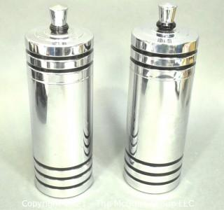 Machine Age Art Deco Chase Gaiety Chrome Cocktail Shaker.