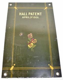 Vintage Hall Patent April 3rd 1906 Bank Safe Door.
