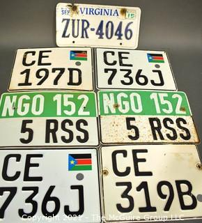 Group of Virginia, South Sudan and NGO License Plates.
