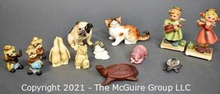 Group of Small Figurines.  Includes Smokey the Bear, Royal Doulton and Naapcoware.