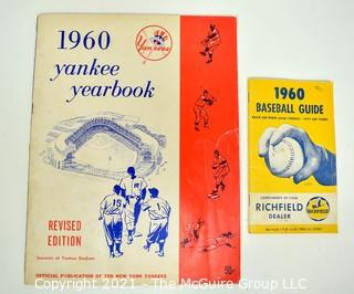 1960 New York Yankee Yearbook, Souvenir of Yankee Stadium and 1960 Baseball Guide with Major & Minor League Schedule Published by Richfield Oil & Gas.