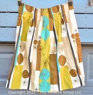 Vintage Mid Century Barkcloth Curtains for Cutting.