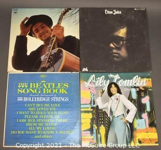Four Vintage LP Vinyl Ablums Including Beatles, Lily Tomlin, Elton John and Bob Dylan