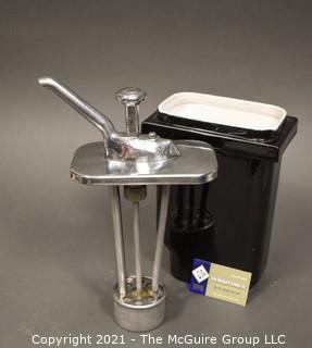Ceramic commercial mid-century soda fountain pump dispenser