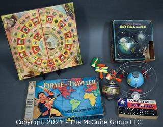 Group of Vintage Board Games and Toys.