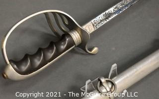 U.S. Army Officer's Presentation Sword Saber and Scabbard; Model M1902; marked Gemsco, Germany