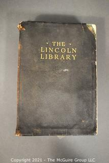 Book: 1924 Edition of The Lincoln Library, published by The Frontier Press Company