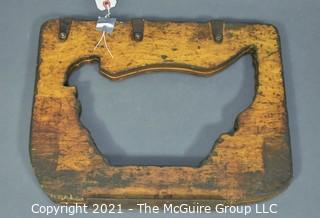 "Handmade Vintage Hinged Hen Sign.  Measures  14 x 16"""