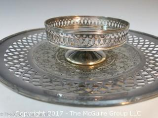 2 level pierced serving tray