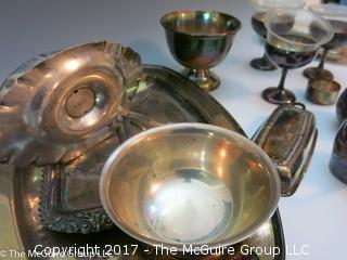 Collection of silverplate servingware