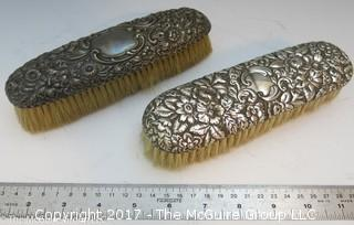 Pair of Sterling Covered Brushes
