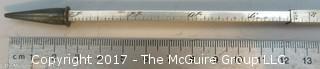 "Telescoping sterling mechanical pencil/ruler; marked ""IBM School #82; 1939"""