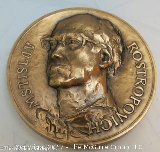 Bronze Medallion: Mistro Rostropovich