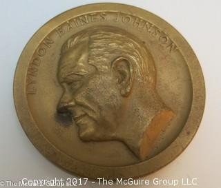 Bronze Medallion of Lyndon Baines Johnson