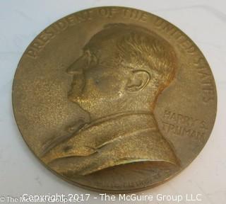 Bronze Medallion: President Harry S. Truman