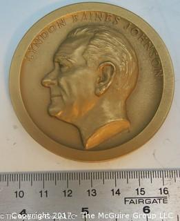 Bronze Medallion: President Lyndon Baines Johnson