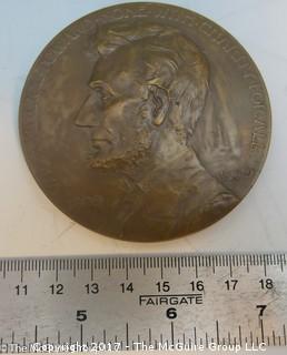 Bronze Medallion: President Abraham Lincoln